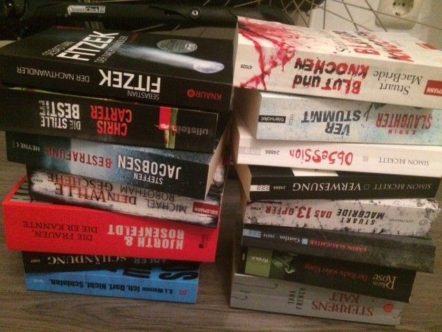 Bücherpaket Thriller Fitzek Carter Slaughter Beckett 15 Stück