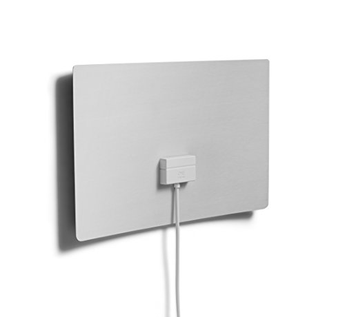 Ultraflache Verstärkte Zimmerantenne für TV von One For All - Geeignet für den Empfang von DVB-T & DVB-T2 - HDTV Indoor Digital Antenne - HD ready - Schwarz/weiß - SV9440