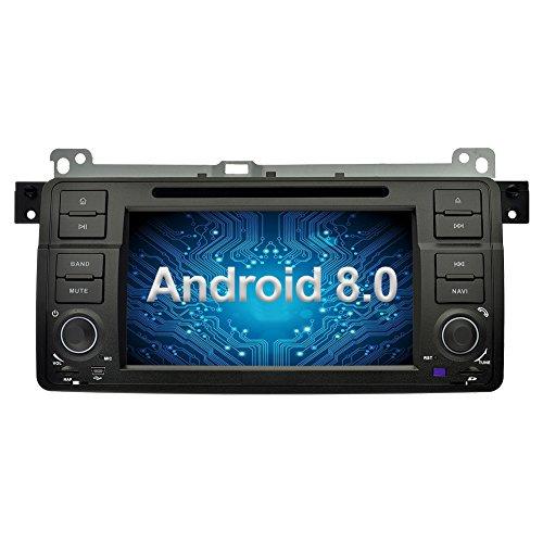 Ohok 7 Zoll Bildschirm 1 Din Autoradio Android 8.0.0 Oreo Octa Core 4G+32G Radio mit Navi Moniceiver DVD GPS Navigation Unterstützt Bluetooth DAB+ für BMW 3 Series E46/BMW M3