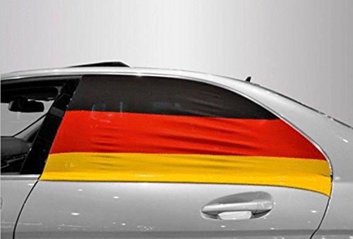 carstyling XXL Soccar Auto Fensterflagge 2er-Set Deutschland Fanartikel Olympia ~ schneller Versand innerhalb 24 Stunden ~