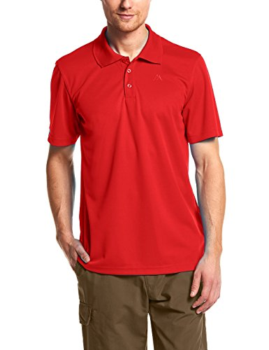 Maier Sports Herren Polo 1/2 Arm T-shirt, fire, Gr. M