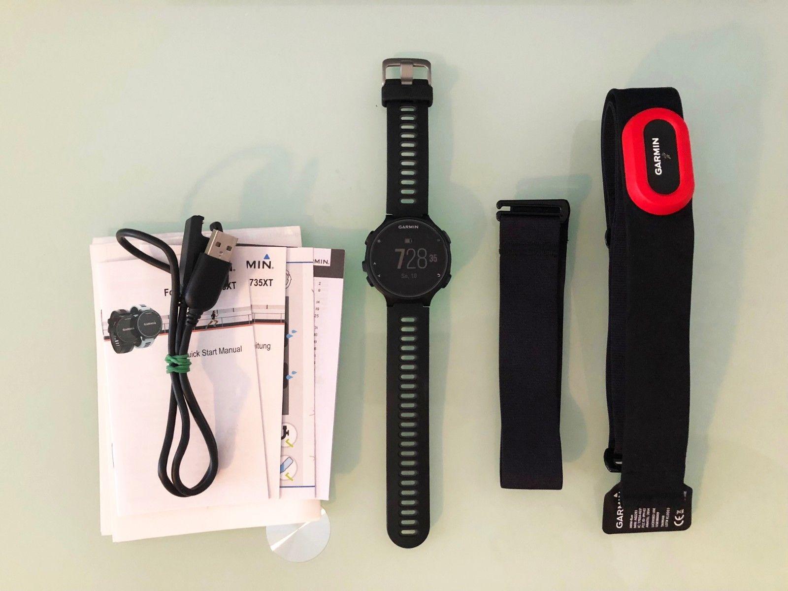 Garmin Forerunner 735 XT GPS Pulsuhr - mit Brustgurt, neuwertig mit Rechnung