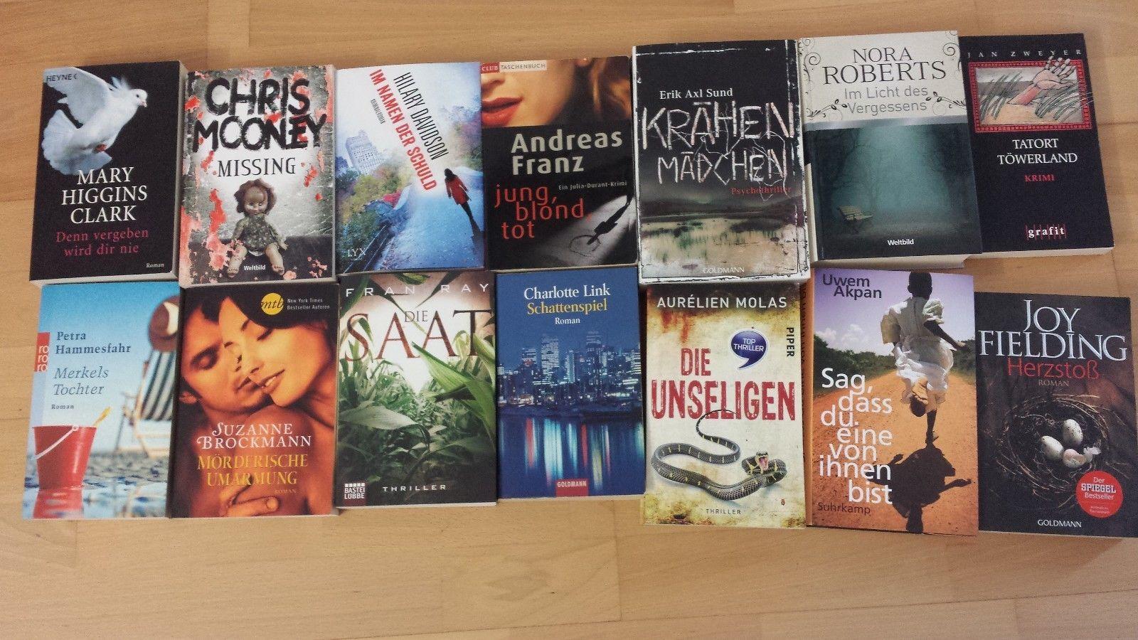 Bücherpaket Krimis & Thriller - 14 Bücher