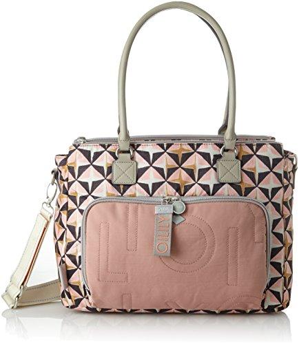 Oilily Damen Charm Geometrical Diaperbag Mhz Umhängetasche, Pink (Rose), 15x28x38 cm