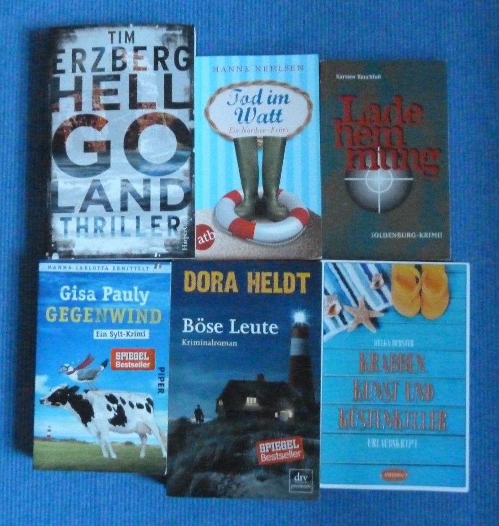 6 Regional Krimis von unterschiedlichen Autoren