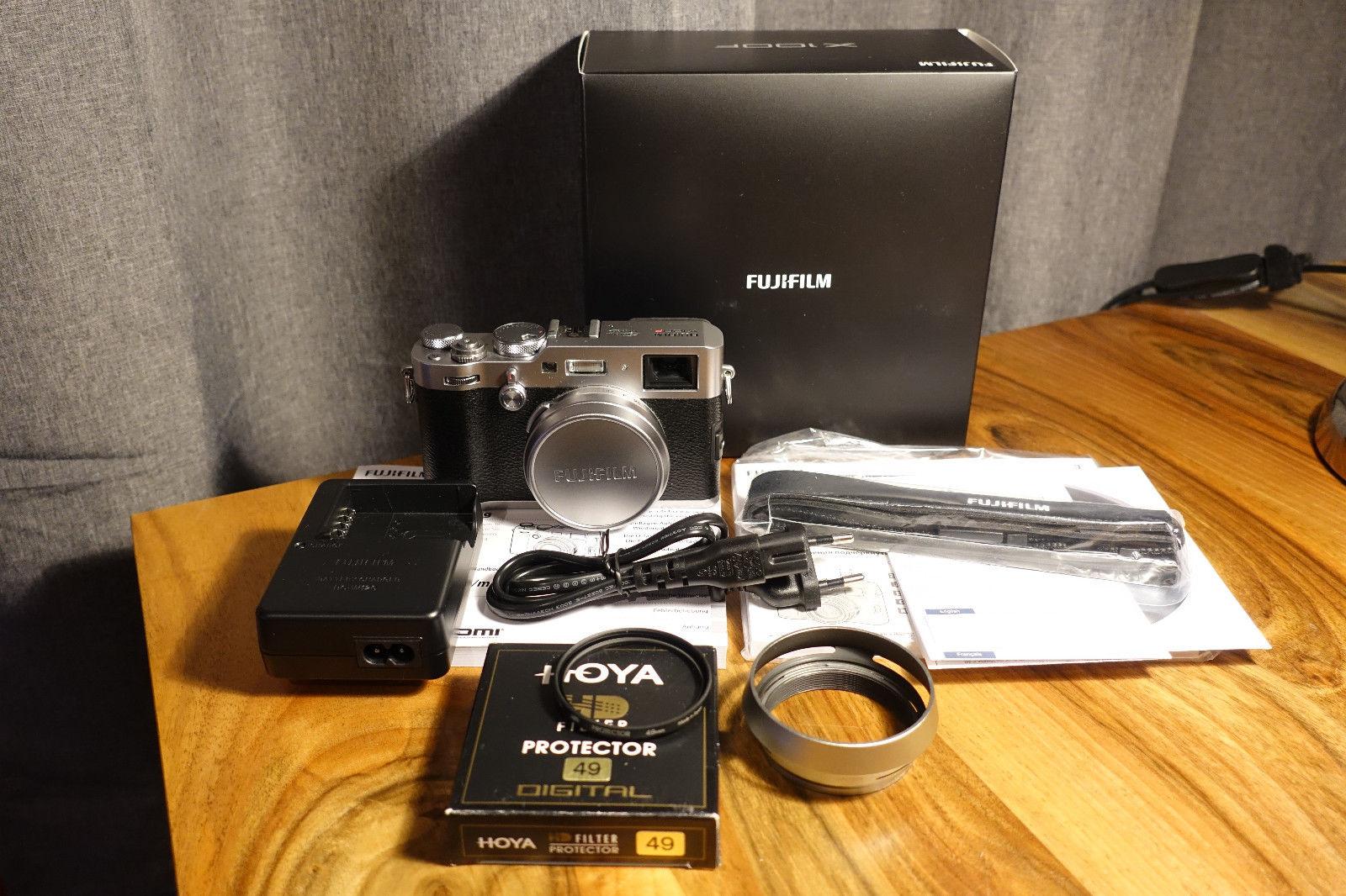Fujifilm X100F Kamera Silber 24MP X-Trans Sensor III, nur 2600 Ausl.