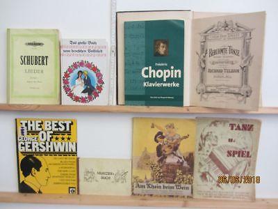 65 Bücher Hefte Noten Notenbücher Notenhefte Partituren teilweise antiquarisch