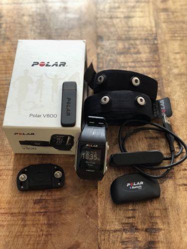 Polar Multisport-Uhr V800 HR schwarz in Originalverpackung