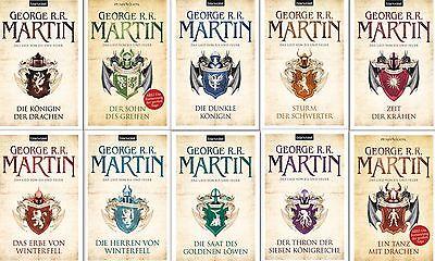 Game of Thrones komplett George R R Martin Das Lied von Eis und Feuer 1 bis 10