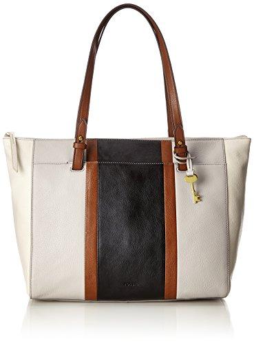 Fossil Damen Damentasche– Rachel Shopper Tote, Weiß (Neutral Multi), 10.16x33.020000000000003x35.56 cm