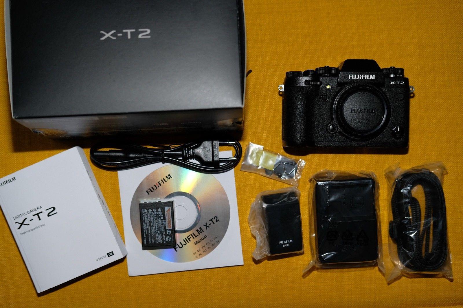 Fujifilm Fuji X-T2 schwarz TOP SUPER ZUSTAND XT2 Systemkamera Body Gehäuse