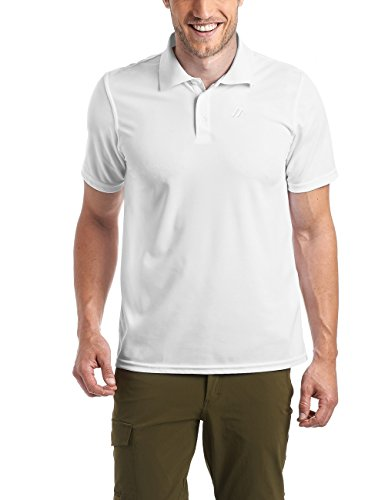Maier Sports Herren Polo 1/2 Arm T-shirt, white, Gr. XXL