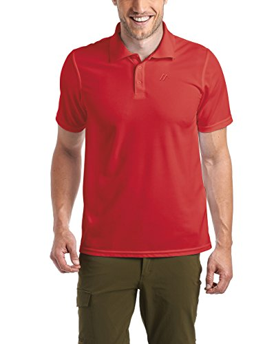 Maier Sports Herren Polo 1/2 Arm T-shirt, salsa, Gr. XL