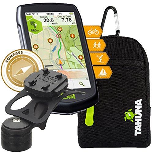 TEASI ONE 3 eXtend - Fahrrad- & Wandernavigation + Fahrradhalter Vorbaumontage + Teasi Tasche +USB Netzteil
