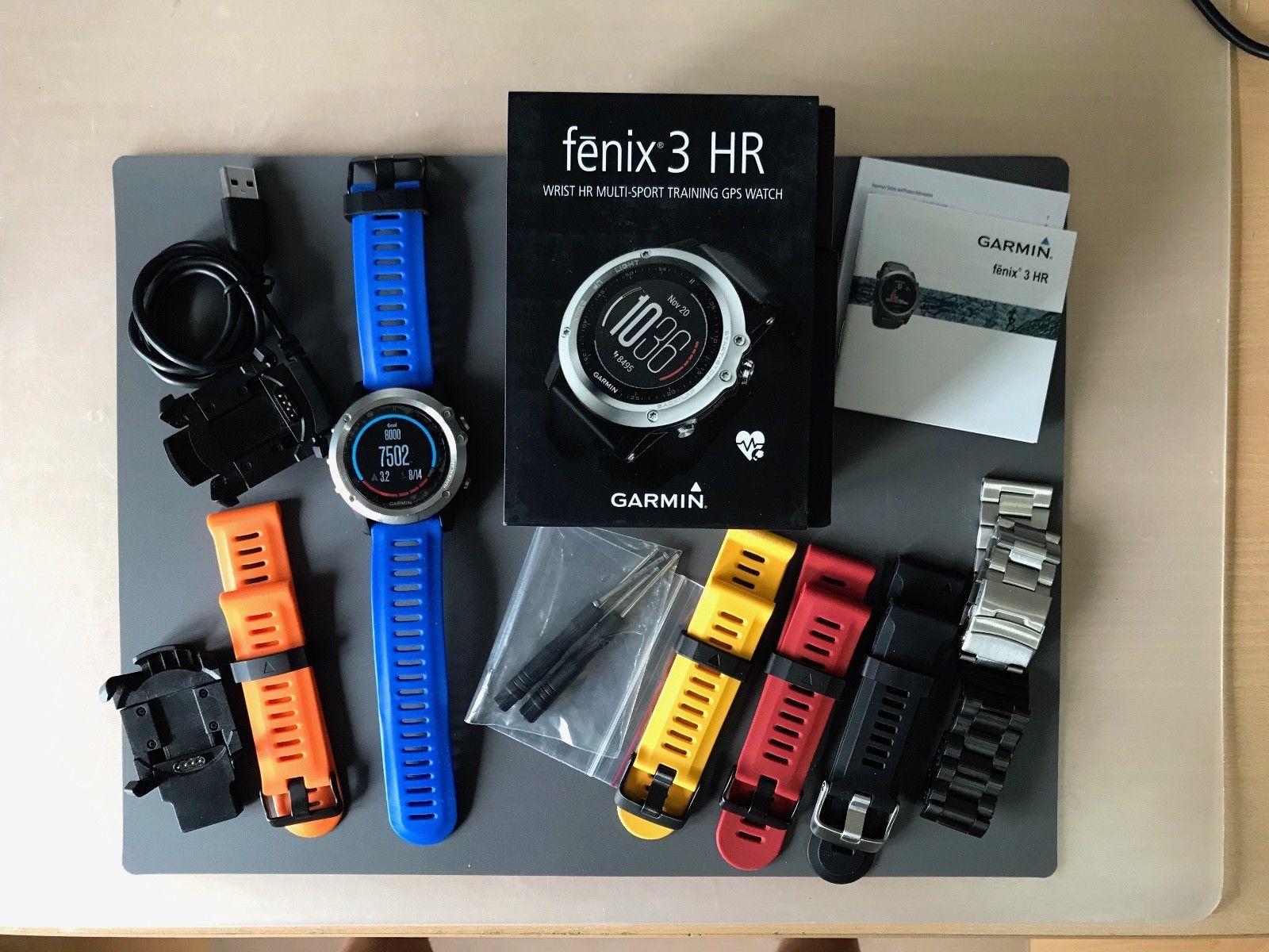 Garmin Fenix 3 HR, GPS, Multisportuhr Herzfrequenz Smartwatch viel Zubehör