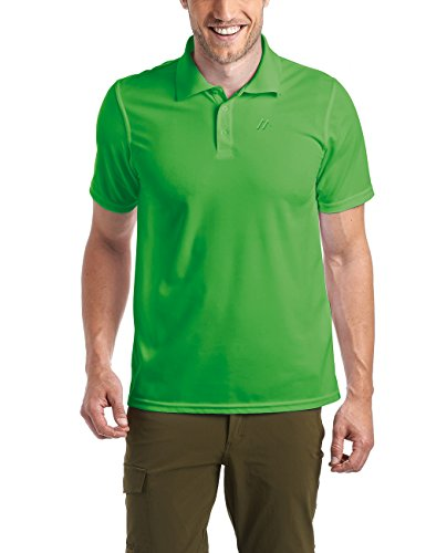 Maier Sports Herren Polo 1/2 Arm T-shirt, Online Lime, Gr. M