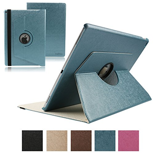 Boriyuan Ipad Pro 9,7 Hülle PU Leder Case Smart Cover ultra slim Schutztasche für das Apple iPad Pro 9.7 Zoll mit 360 Grad Standfunktion, Auto Sleep Wake up Funktion (Farbe: Blau)