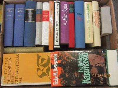 36 Bücher Romane internationale Klassiker Zola Tolstoi Twain Miller  u.a.