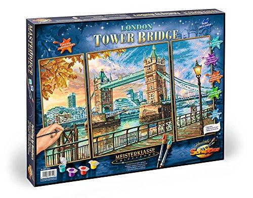 Noris Spiele Schipper 609260752 Malen nach Zahlen London Tower Bridge