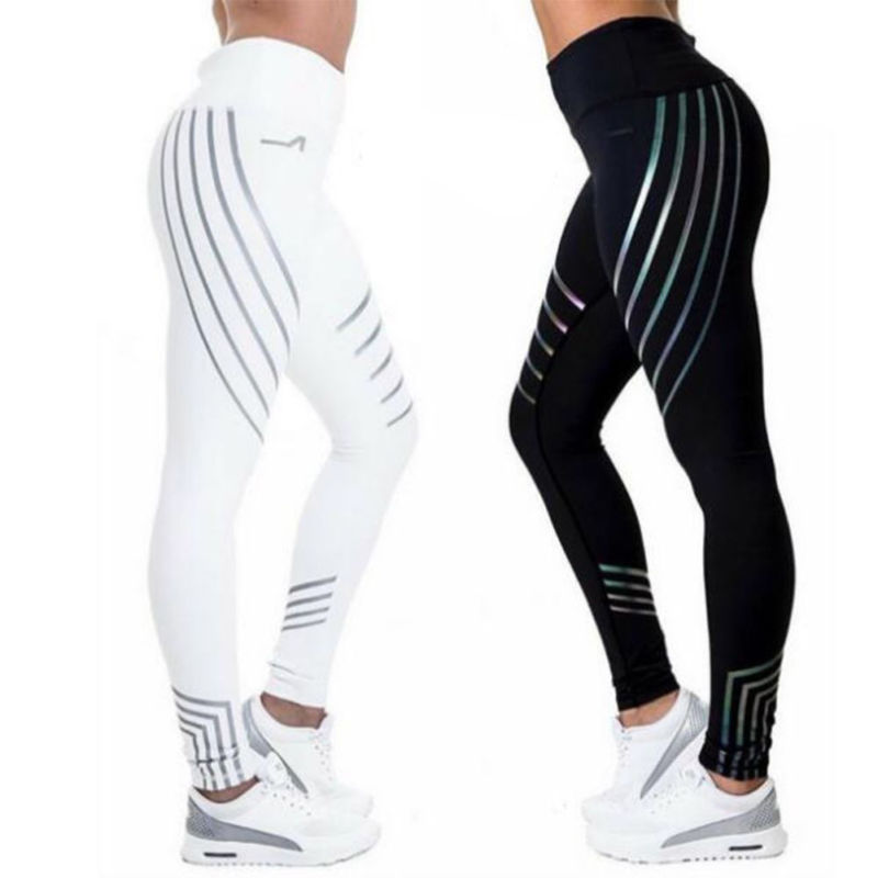 Damen Leggings Stretch Sporthose Laufhose Fitness YOGA Gym Jogginghose Leggins