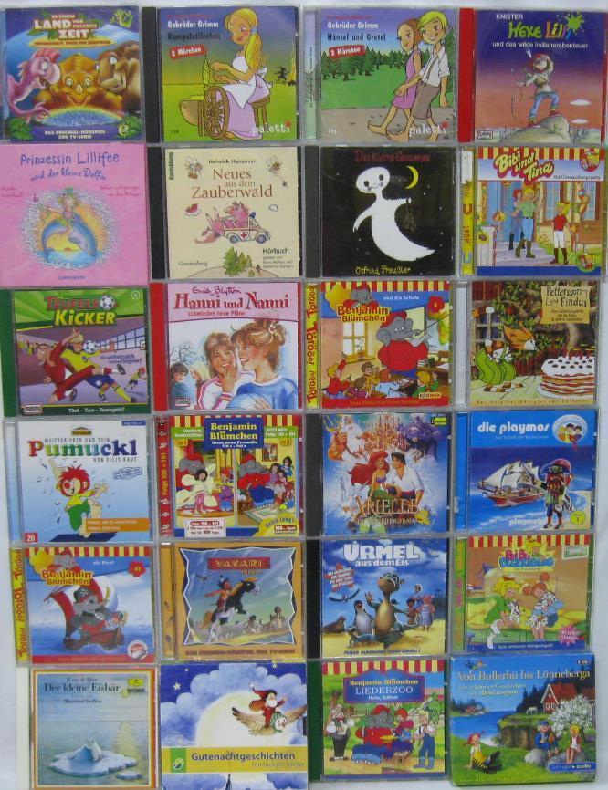 30 CD Hörbuch Sammlung Kinder Benjamin Blümchen Bibi und Tina Pumuckl Yakari