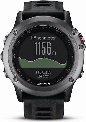 Garmin Fenix 3 grau GPS-Multisportuhr mit Smartwatch-Funktionen (Sportuhr)