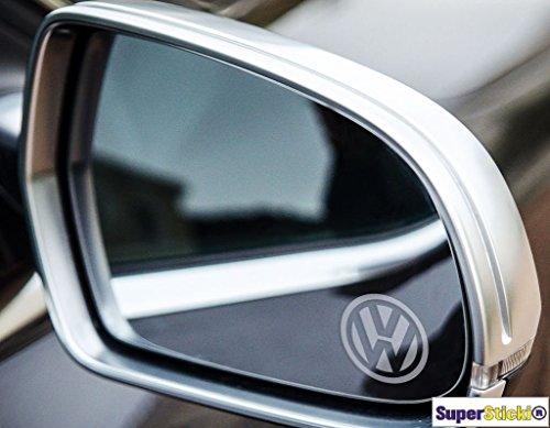 3 x Milchglas VW-Logo in 3 cm Frostfolie Frost Frosteffekt Gravur-Effekt Volkswagen Aufkleber Autoaufkleber Tuningaufkleber von SUPERSTICKI® aus Hochleistungsfolie für alle glatten Flächen UV und Waschanlagenfest Tuning Profi Qualität Auto KFZ Scheibe Lac