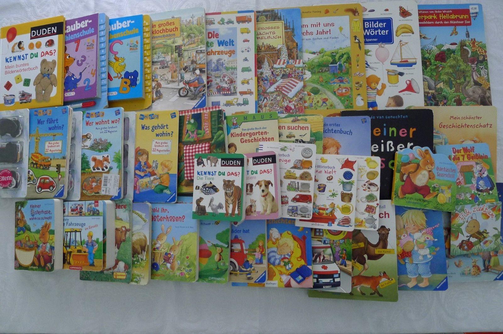 Bücherpaket Kinder Kleinkind Bücher Bilderbuch Lernbuch Magnetbuch Wimmelbuch