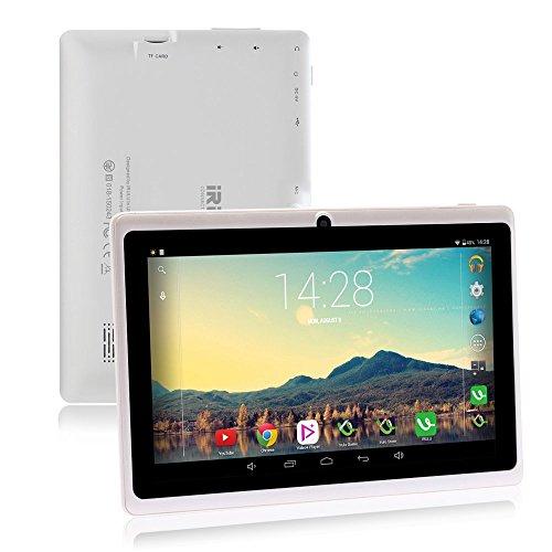 iRULU 7 Zoll Tablet Google Android 6.0 Quad Core 1024x600 Dual Kamera WI-Fi Bluetooth 1GB/8GB Play Store NetFilix Skype 3D Spiel Unterstützt Gms Zertifiziert mit Einem Jahr Garantie(Weiß)