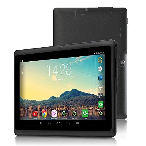 iRULU 7 Zoll Tablet Google Android 6.0 Quad Core 1024x600 Dual Kamera WI-Fi Bluetooth 1GB/8GB Play Store NetFilix Skype 3D Spiel Unterstützt Gms Zertifiziert mit Einem Jahr Garantie (Schwarz)