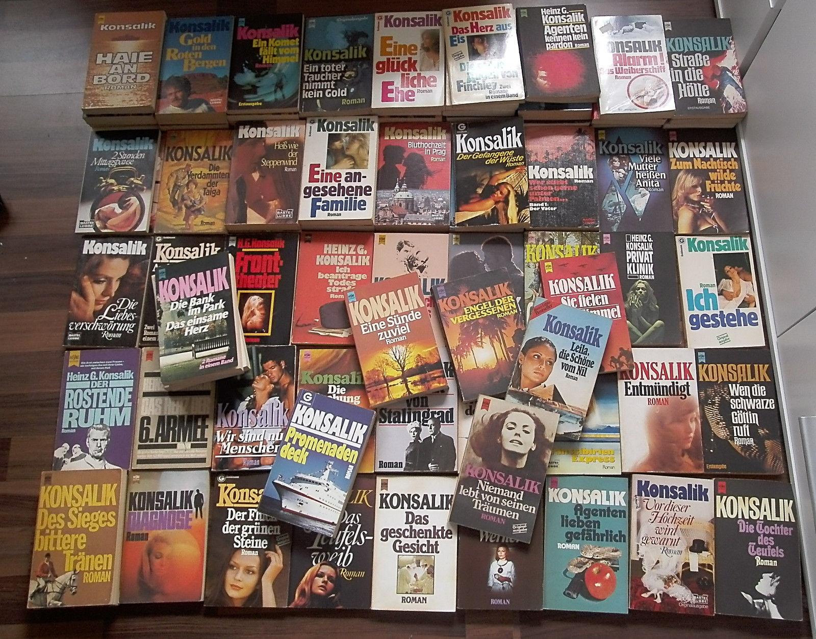 Bücher-Sammlung 91 x Konsalik Taschenbuch, Konvolut Paket (keine doppelten)