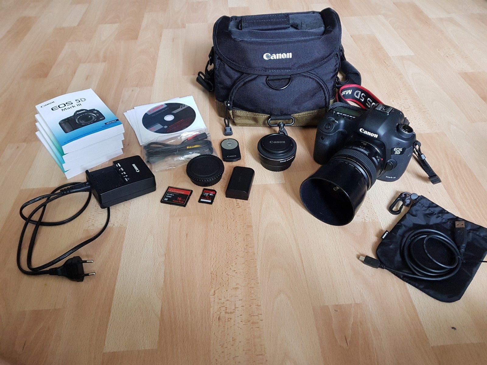 Canon EOS 5D Mark III Gehäuse + Objektive +Zubehörpaket (siehe Beschreibung)
