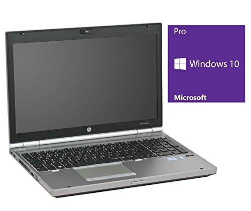 HP Elitebook 8560p Notebook | 15.6 Zoll Display | Intel Core i7-2620M @ 2,7 GHz | 8GB DDR3 RAM | 250GB SSD | DVD-Brenner | Windows 10 Pro vorinstalliert (Zertifiziert und Generalüberholt)