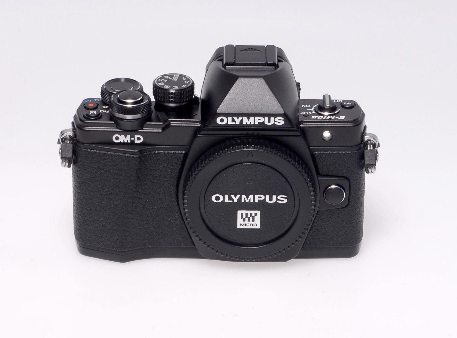 Olympus OM-D E-M10 Mark II Digitalkamera - schwarz - gebraucht