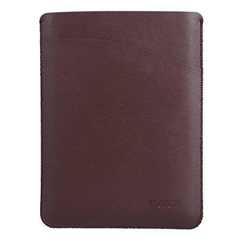 ERGEOB® Lederhülle für Amazon alle neue Kindle Paperwhite 2015 300 PPI 3.Generation / 2014 / 2013 / 2012 Leder Schutzhülle Hülle Tasche Leder Case Cover + Displayschutzfolie braun
