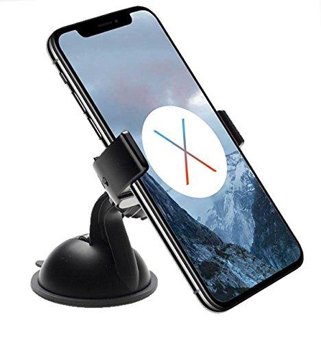 Anygrip (UC) Stretchy - Universelle Autohalterung für Armaturenbrett und Fenster für alle Telefone bis 6,1 Zoll - Schwarz