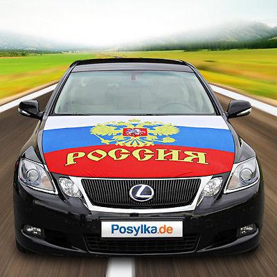 Russische Motorhauben Fahne Flagge Autoflagge  Russland Russia 130x160 cm