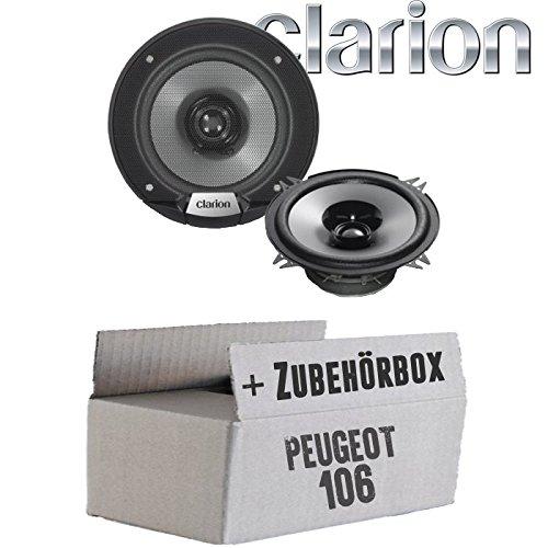 Peugeot 106 - Lautsprecher Boxen Clarion SRG1313R   13cm 130mm Auto Einbauzubehör - Einbauset
