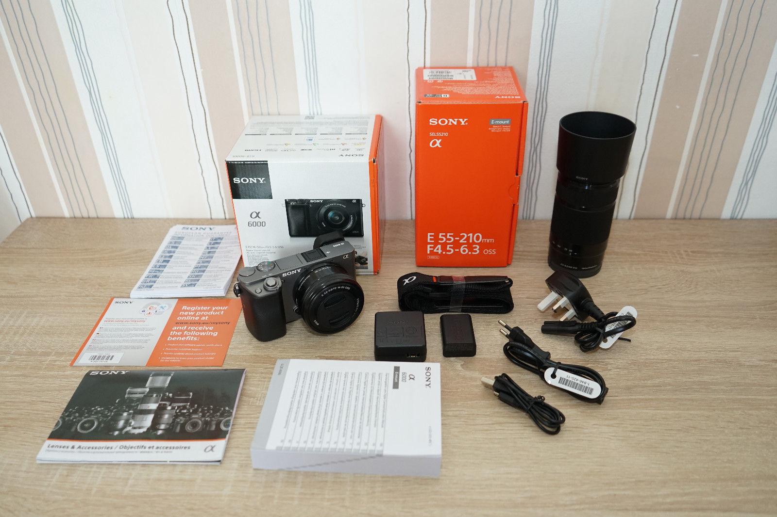 Sony Alpha ILCE-6000 24.3 MP mit 2 Objektiven (16-50mm + 55-210mm) Restgarantie!