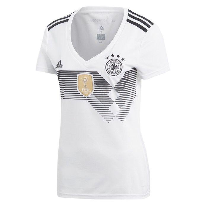 adidas Damen DFB Deutschland Heimtrikot WM 2018 Russland weiß [BQ8396]