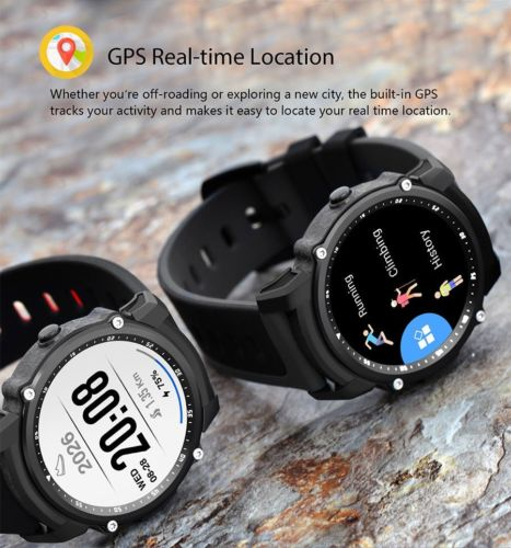 GPS Sportuhr Fitness Tracker Laufuhr Puls Smartwatch Android Handy Uhr Bluetooth