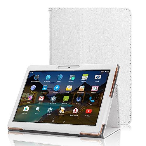 XIDO Slim Folio Hülle Case Tasche, Kompatibel für Yuntab 10.1 Zoll (K17 / K107) 3G Tablet / ACEPAD 10.1 Zoll (A140 / A121 / A101) / Artizlee 10.1 Zoll (ATL-31 / ATL-21X) / XIDO Tablet (Z120/3G / X110/3G) X111 (with Flash) Android 5.1 / BEISTA Tablet PC 10