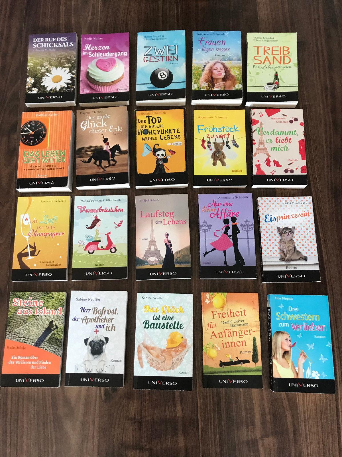 Bücher Paket Romane 20 Stück verschiedene Autoren