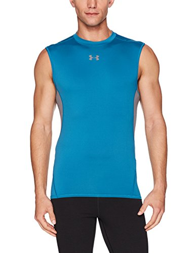 Under Armour Herren Hg Armour SL Fitness-T-Shirts & Tanks, Bayou Blue, XXL