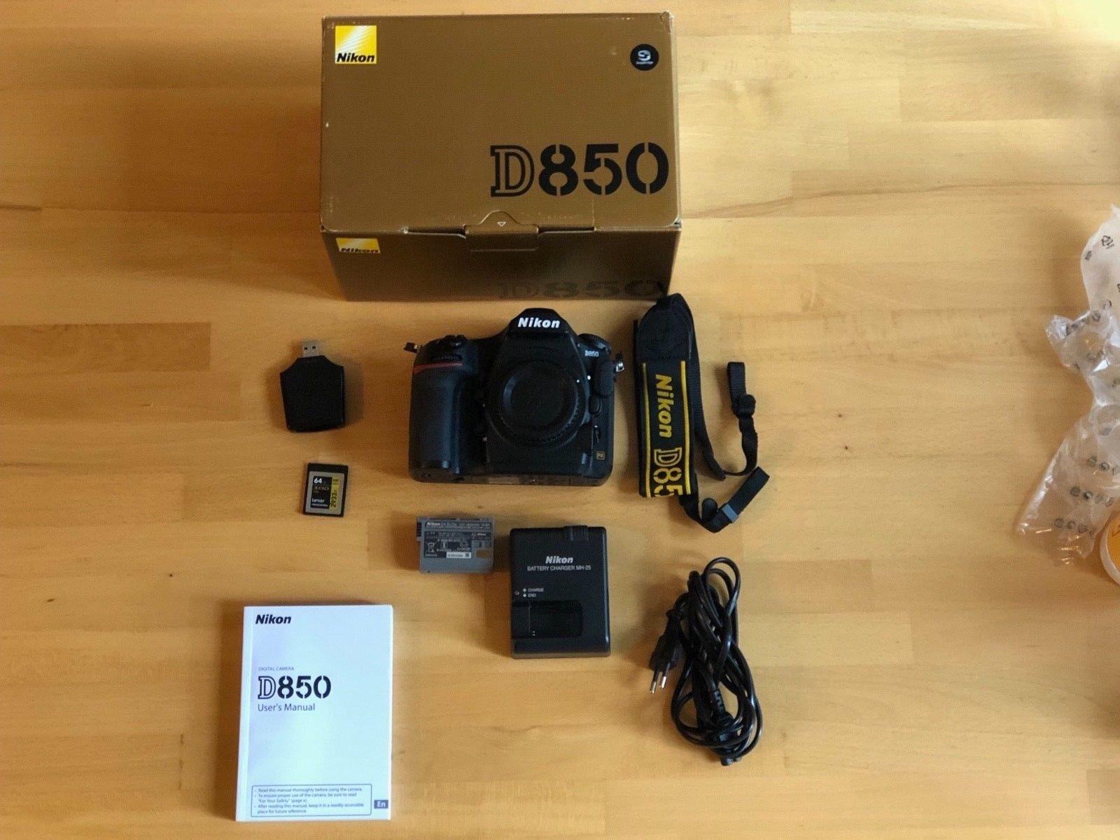 Nikon D D850 (Nur Gehäuse) + XQD Card + XQD Card Reader + Nur 4452 Auslösungen