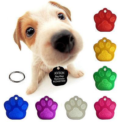 4 Hundemarken mit Gravur Hundemarke Tiermarke Adressanhänger Anhänger Hund Alu