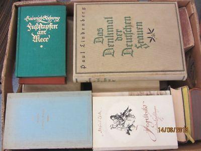 38 Bücher antiquarische Bücher