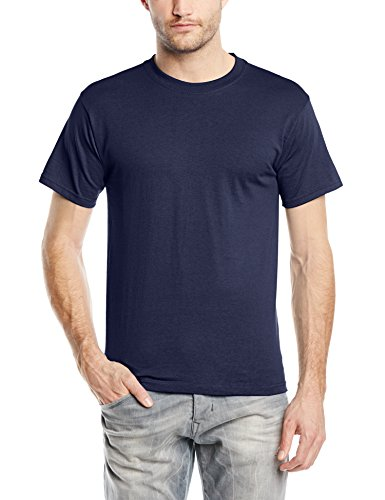 Fruit of the Loom Herren T-Shirt, Blau (Marineblau), XXXL
