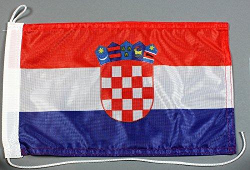 Bootsflagge Kroatien 20 x 30 cm in Profiqualität Flagge Motorradflagge