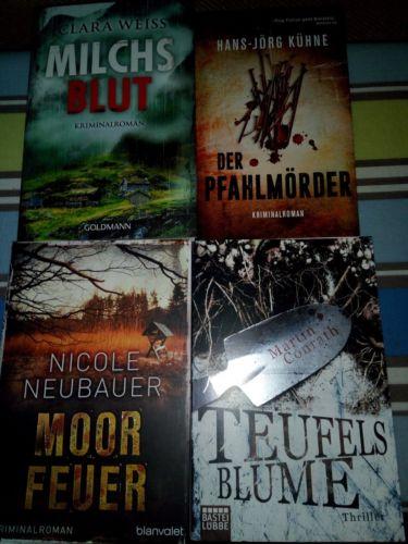 Buchpaket 4 Thriller/Krimi aktuell und hochspannend